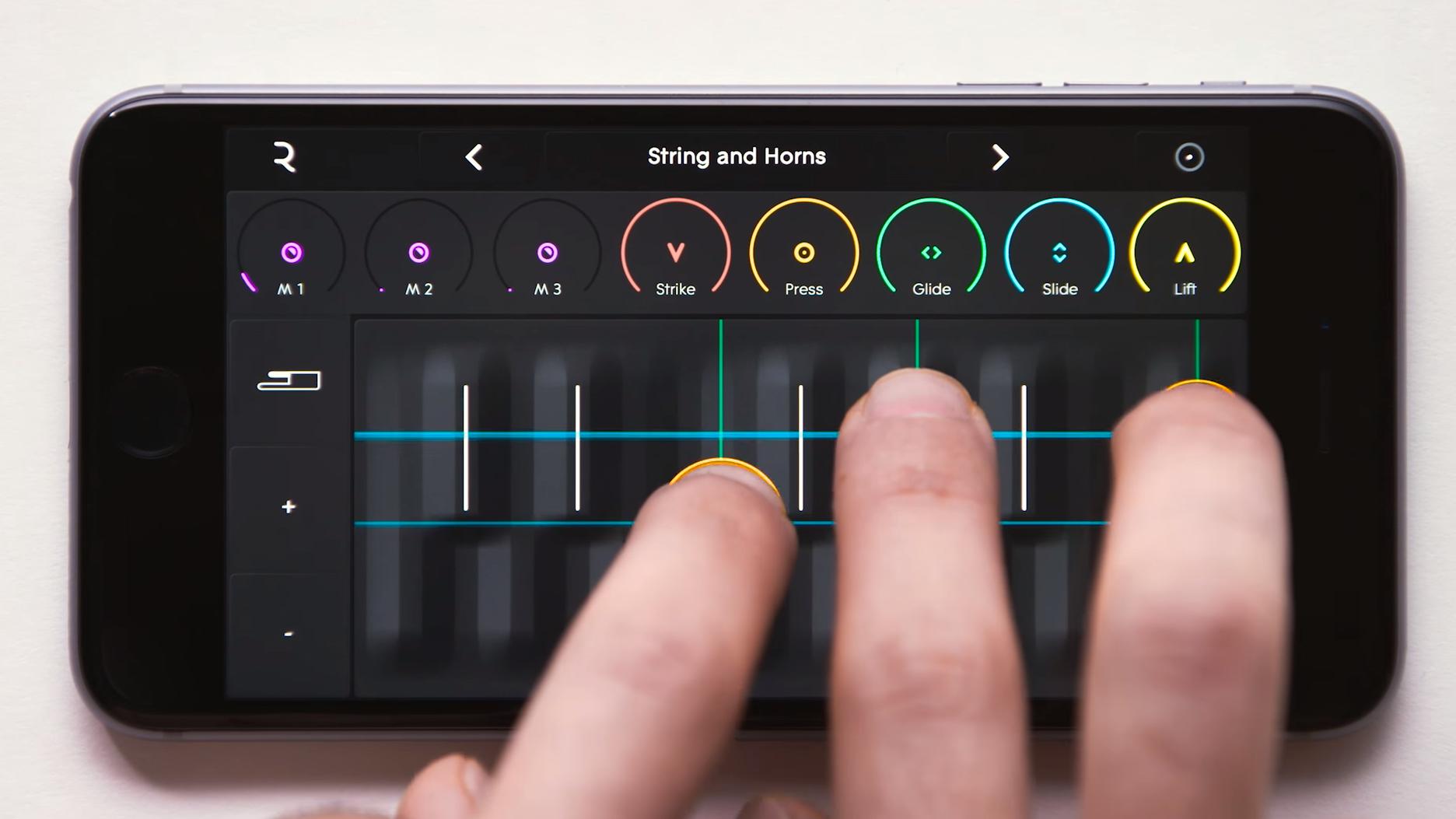 Denne appen lar deg bruke mobilen som et unikt musikkinstrument