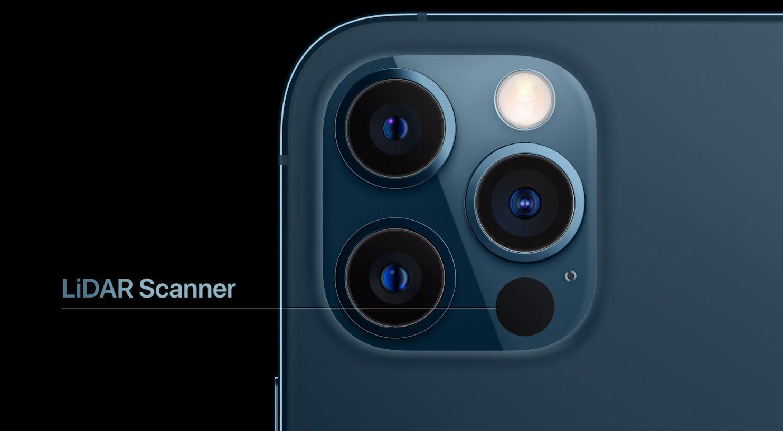 Nytt på iPhone 12 Pro og Pro Max: Lidar-sensor. Den kan blant annet hjelpe med autofokusen i svakt lys.