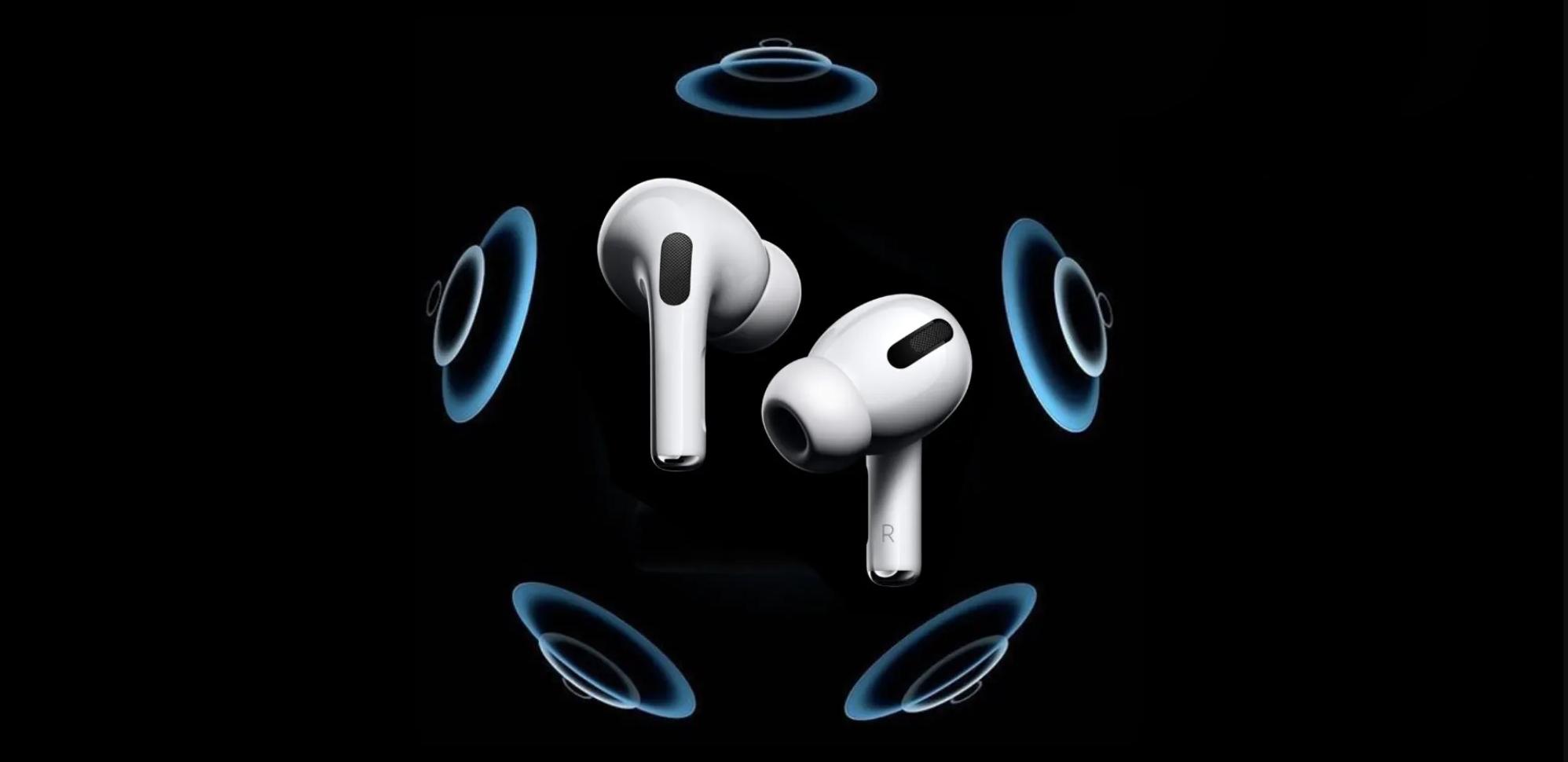 Slik illustrerer Apple romlyd, og da surroundeffekten, for sine AirPods Pro.