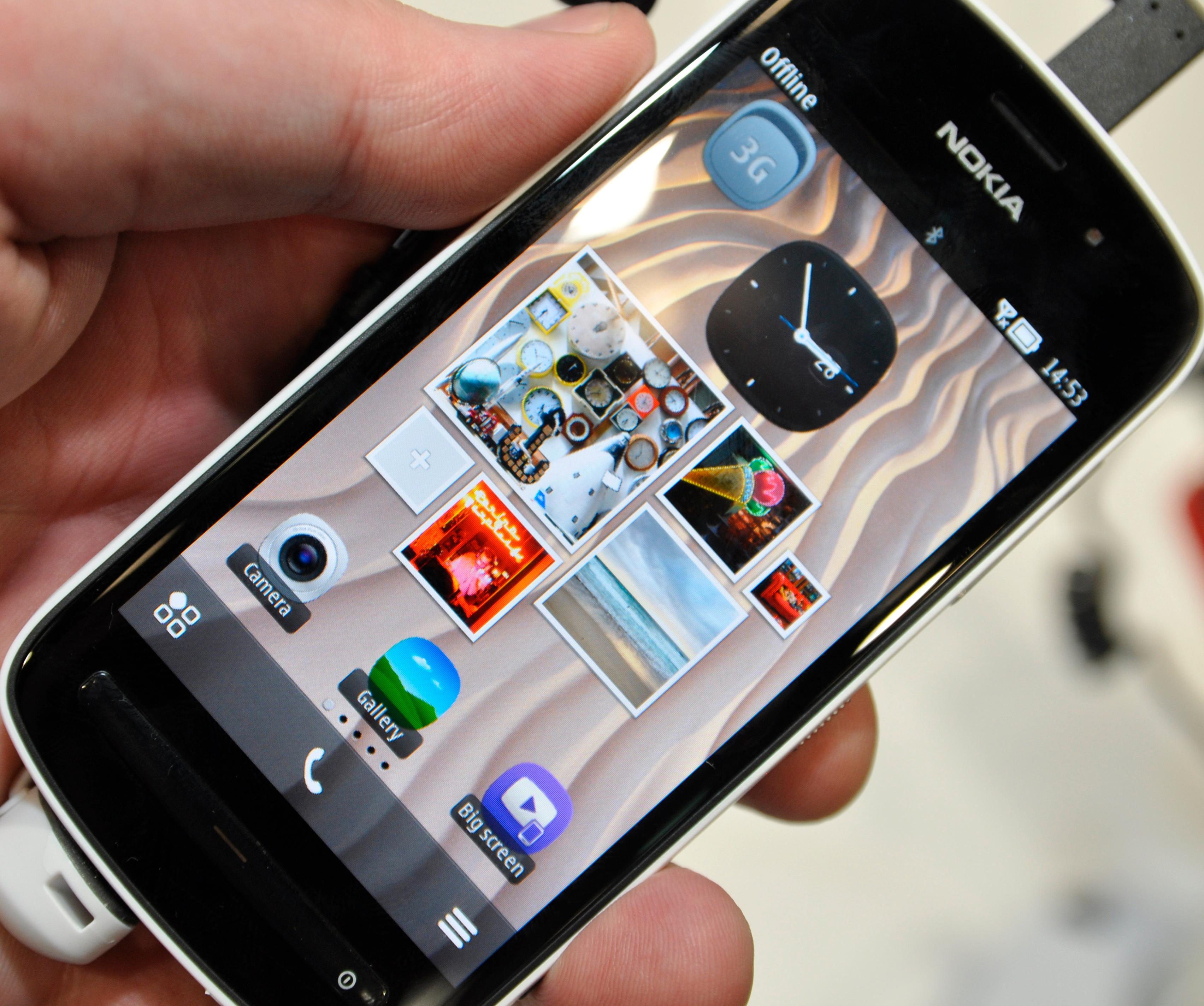 Symbian Belle har blitt ganske pent, men det har fortsatt enkelte elementer fra gamle Symbian.