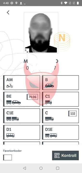 Promon sier de klarte å skyte inn kode i appen mens den kjørte. Her har de lagt inn et bakgrunnsbilde som ikke var der fra før. Det viser at appen kan overtales til å kjøre kode utenfra.