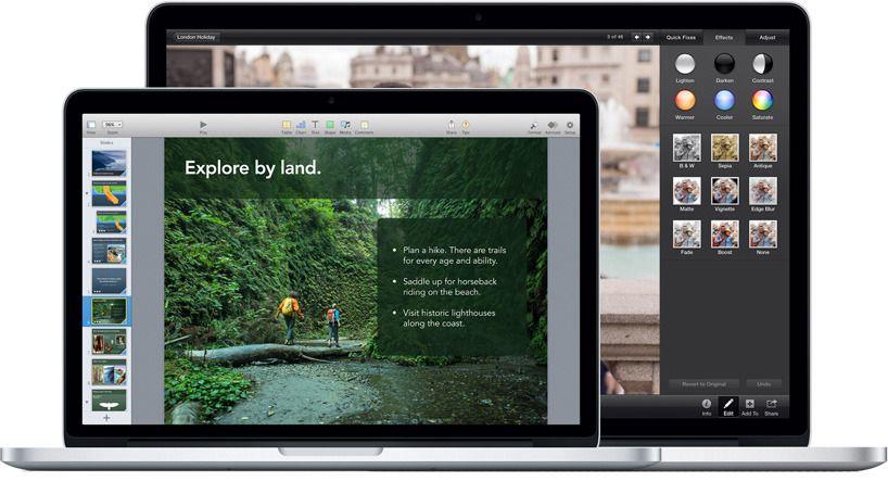 Med flere piksler kommer du langt med en liten skjerm (bilde: apple.com)