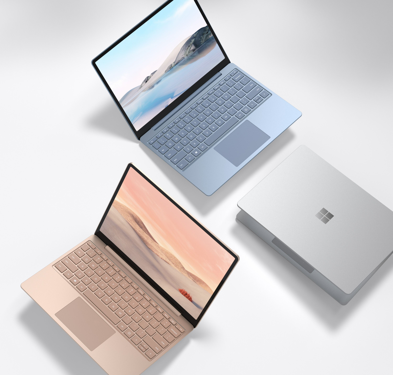 Laptop Go kommer i tre forskjellige farger.