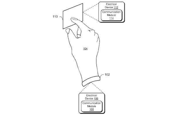 Grov skisse av Microsofts nye oppfinnelse.Foto: US Patent and Trademark Office