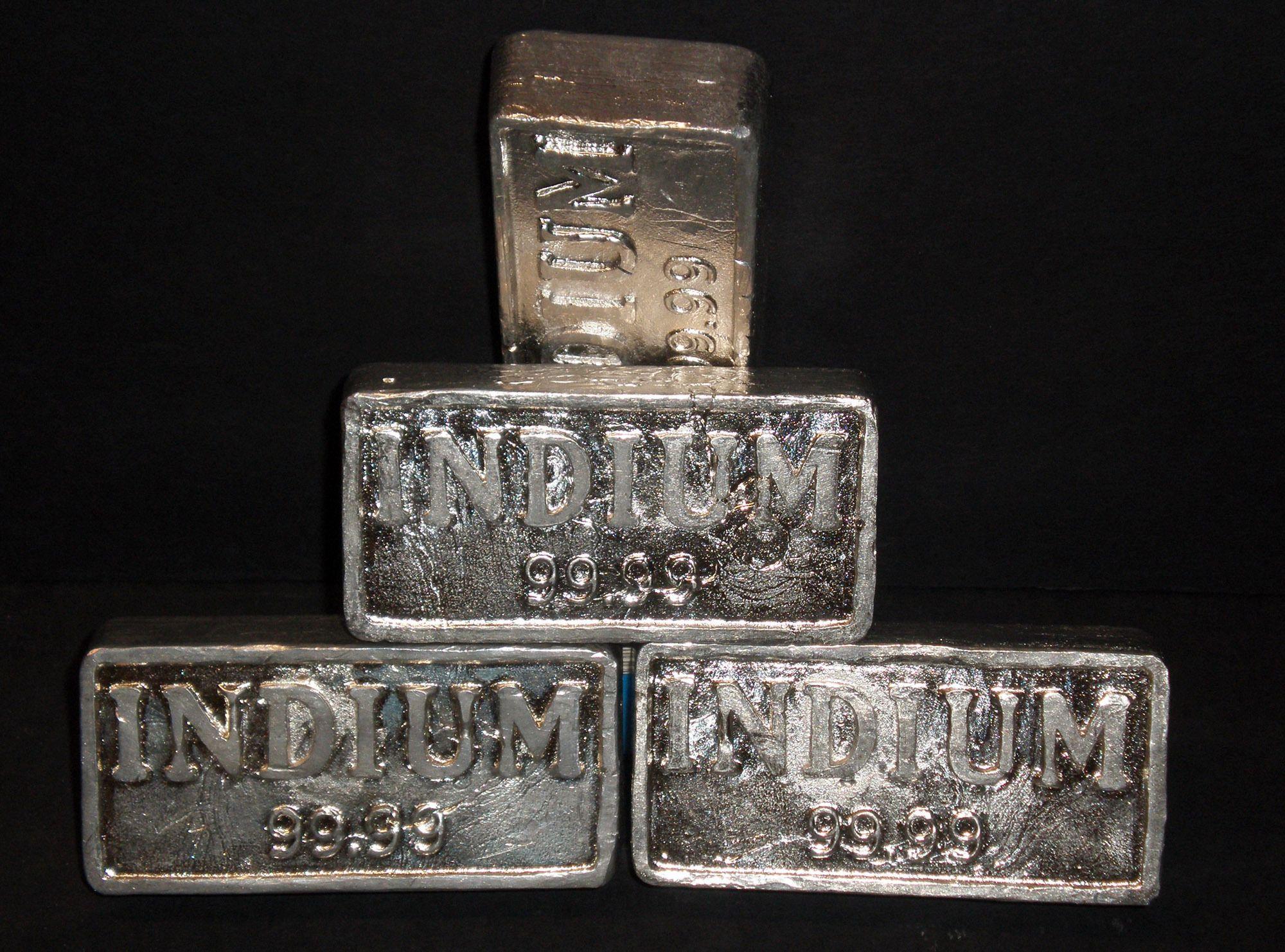 Indium er et av de sentrale byggematerialene i LCD-panelene. Foto: Nerdtalker/Wikipedia