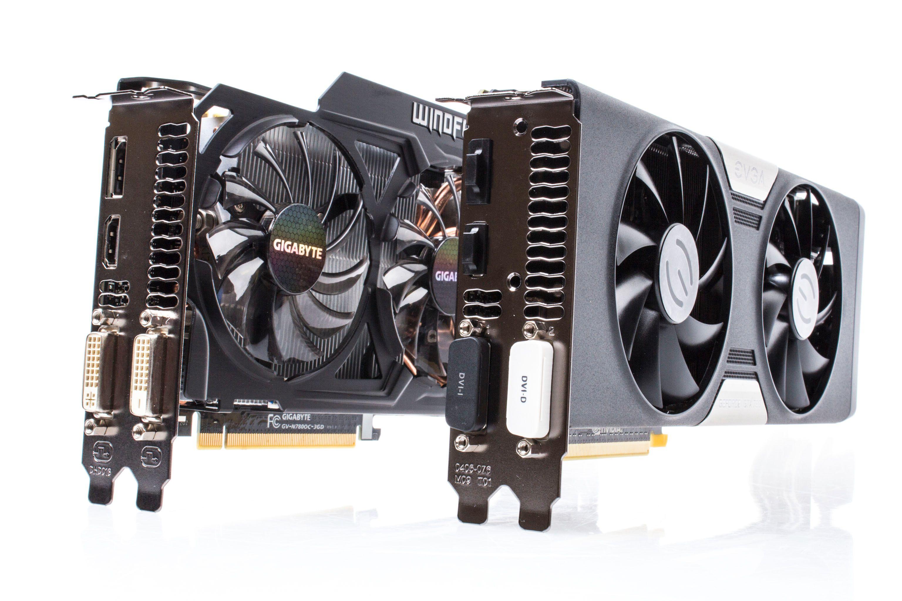 Topputgavene av GeForce GTX 780 fra Gigabyte og EVGA skal få bryne seg på hverandre i dagens test.Foto: Varg Aamo, Hardware.no
