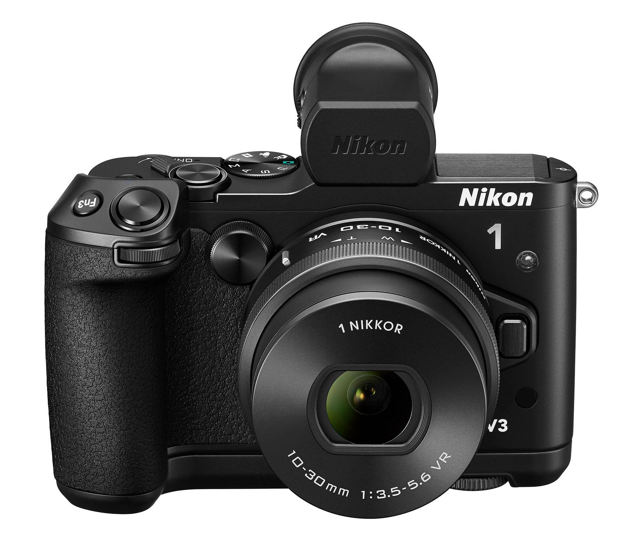 1 V3 med 1 Nikkor VR 10-30mm.Foto: Nikon