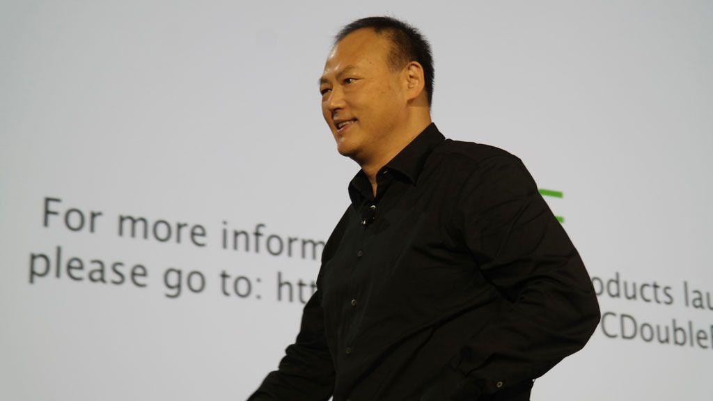 Peter Cho er direktør i HTC. Han lover flere spennende helt nye produkter ut over i 2015.Foto: Espen Irwing Swang, Tekl.no