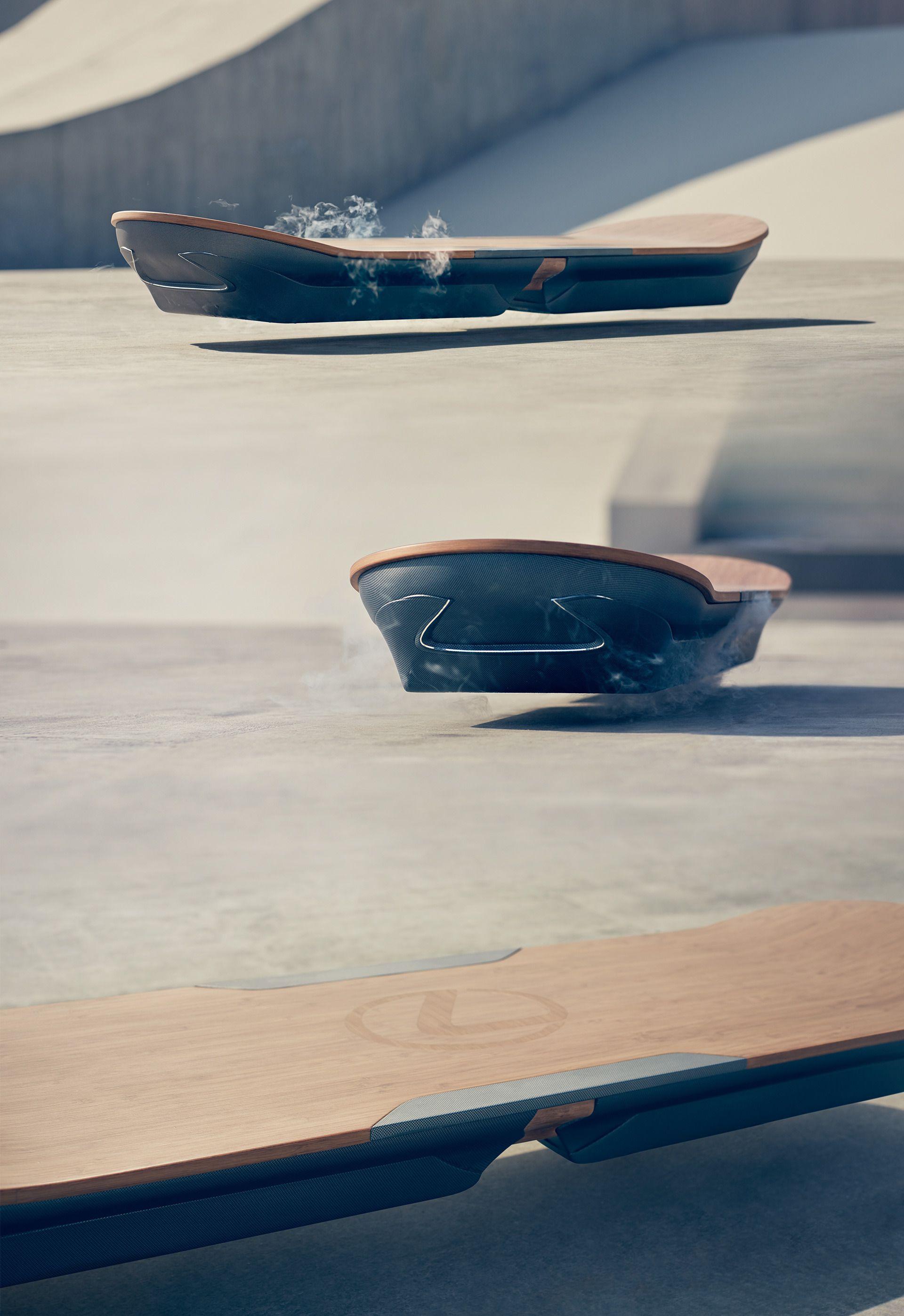 Lexus' svevebrett baserer seg på den såkalte Maglev-teknologien. Foto: Lexus
