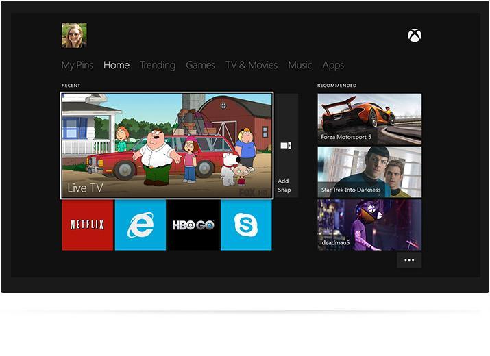 Xbox One ønsker å være midtpunktet i stua. Foto: Microsoft