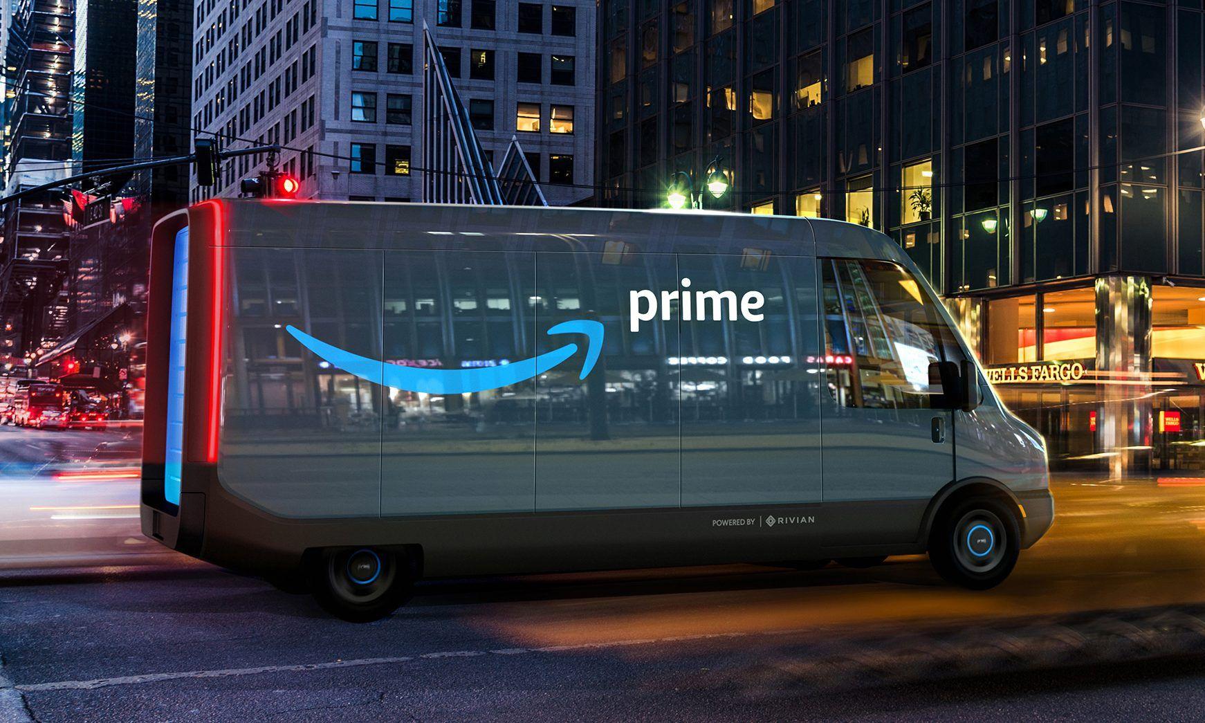 Rivian skal levere 100.000 av disse varebilene til Amazon.