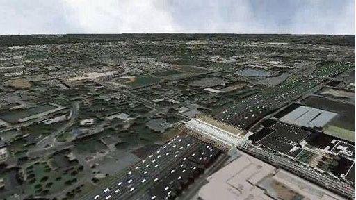 Google Earth viser deg køen