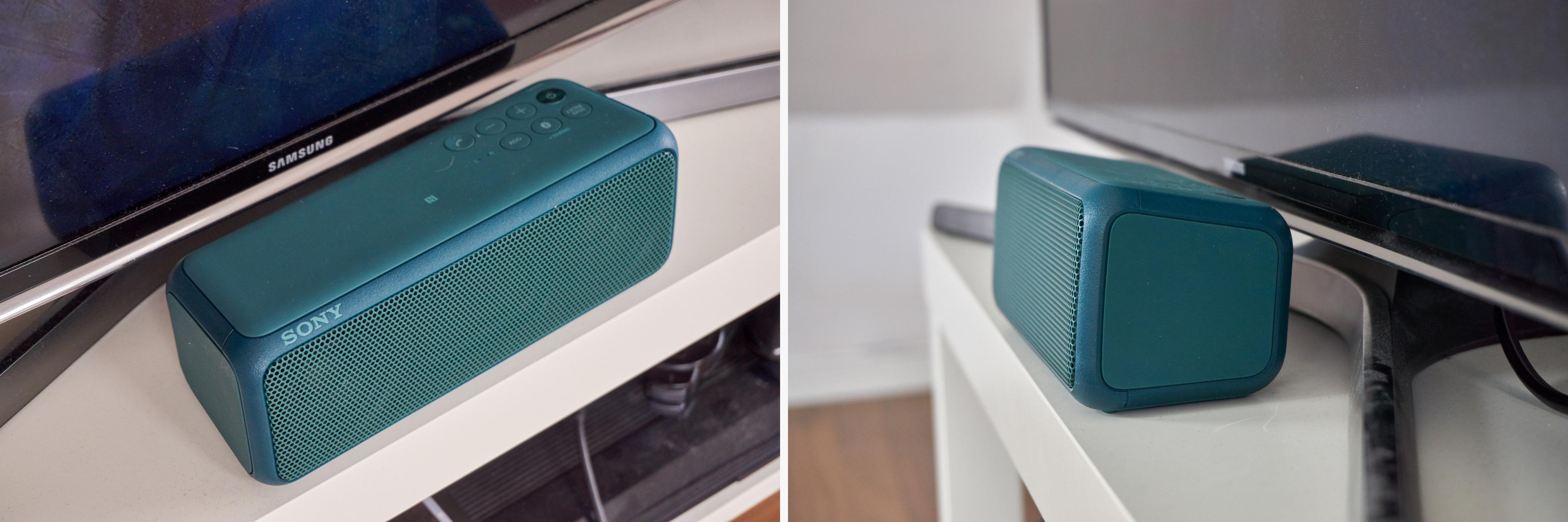 Sonys høyttaler er svært stilren, og passer like godt i stua som på farta – kanskje bedre, til og med. Selskapet har lagt sin elsk på rene flater og avrundede kanter for tiden, i nær sagt alle produktkategorier.