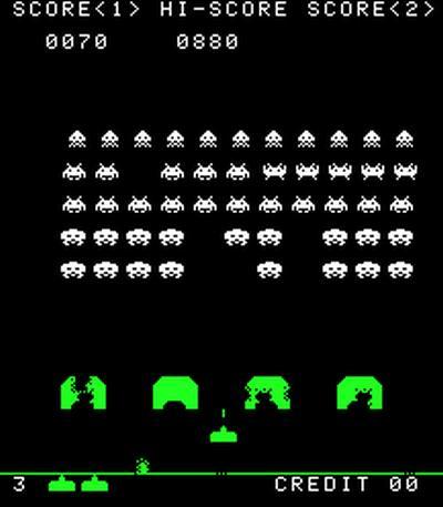 Klassikeren Space Invaders er blant spillene som Deep Q nå mestrer. Foto: Wikipedia