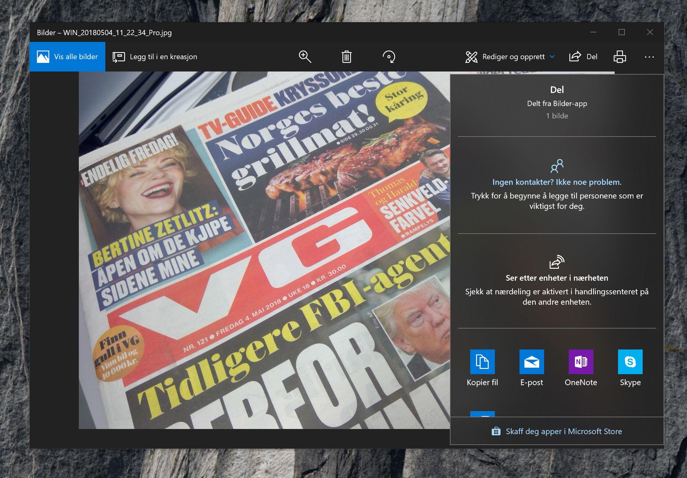 Med nærdeling blir det lettere og raskere å dele filer mellom Windows 10-maskiner.