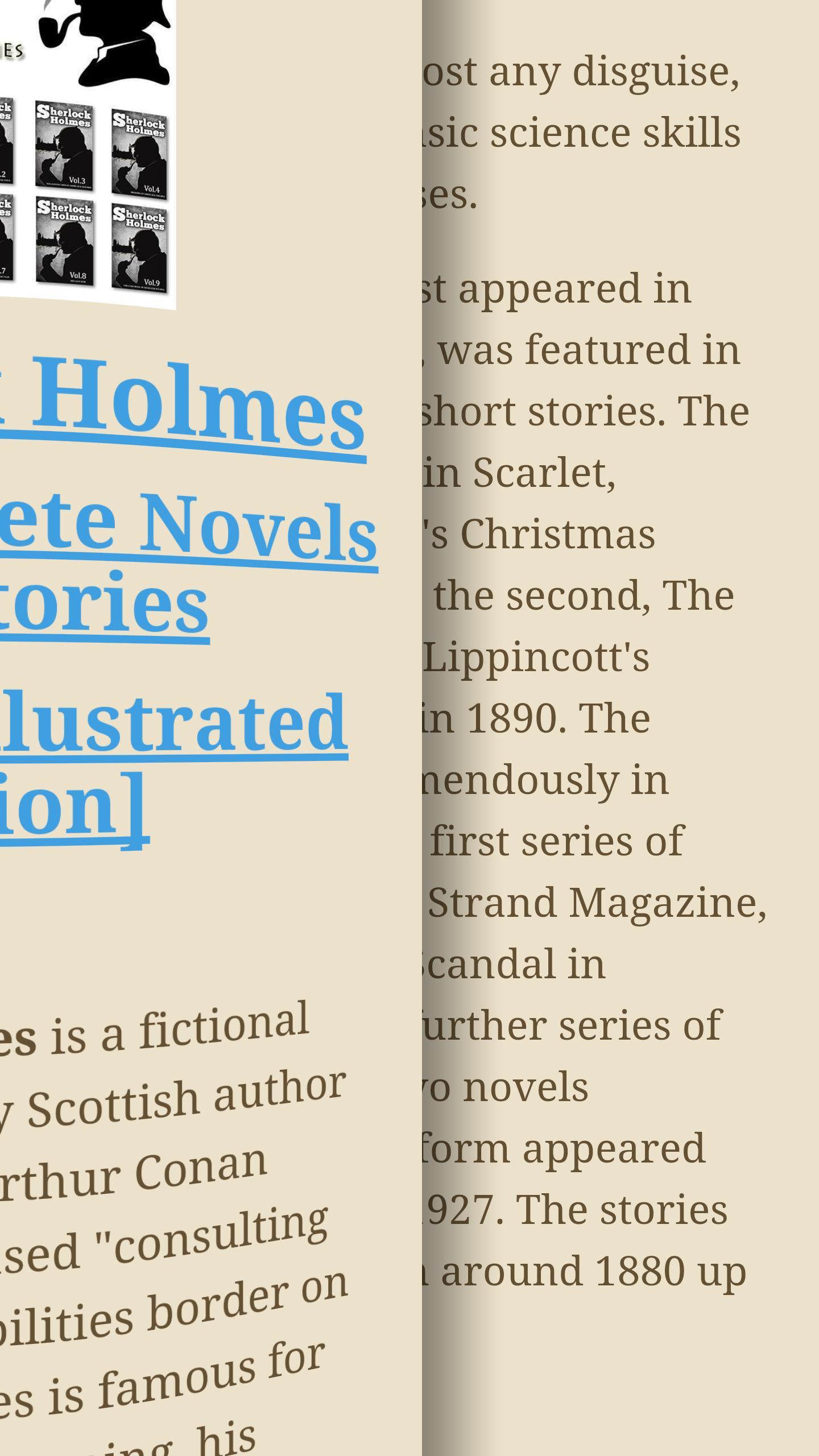 Mange av bøkene på Play Bøker er gratis. Som denne, der du kan lese historiene om Sherlock Holmes.