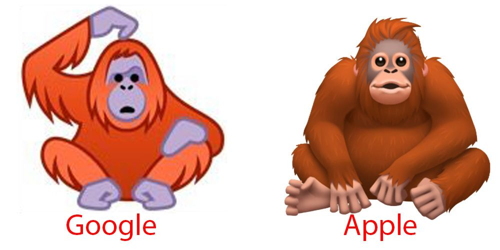 Har du fått en melding du ikke skjønner noe av kan Googles orangutang være mer givende enn Apples.