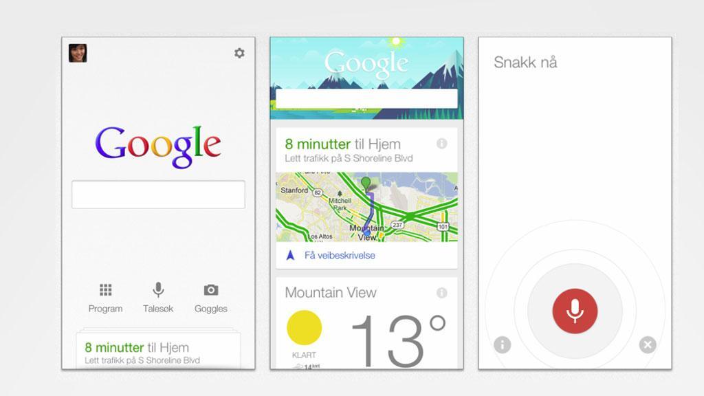 Google Now (iOS-versjon).Foto: Apple AppStore/montasje
