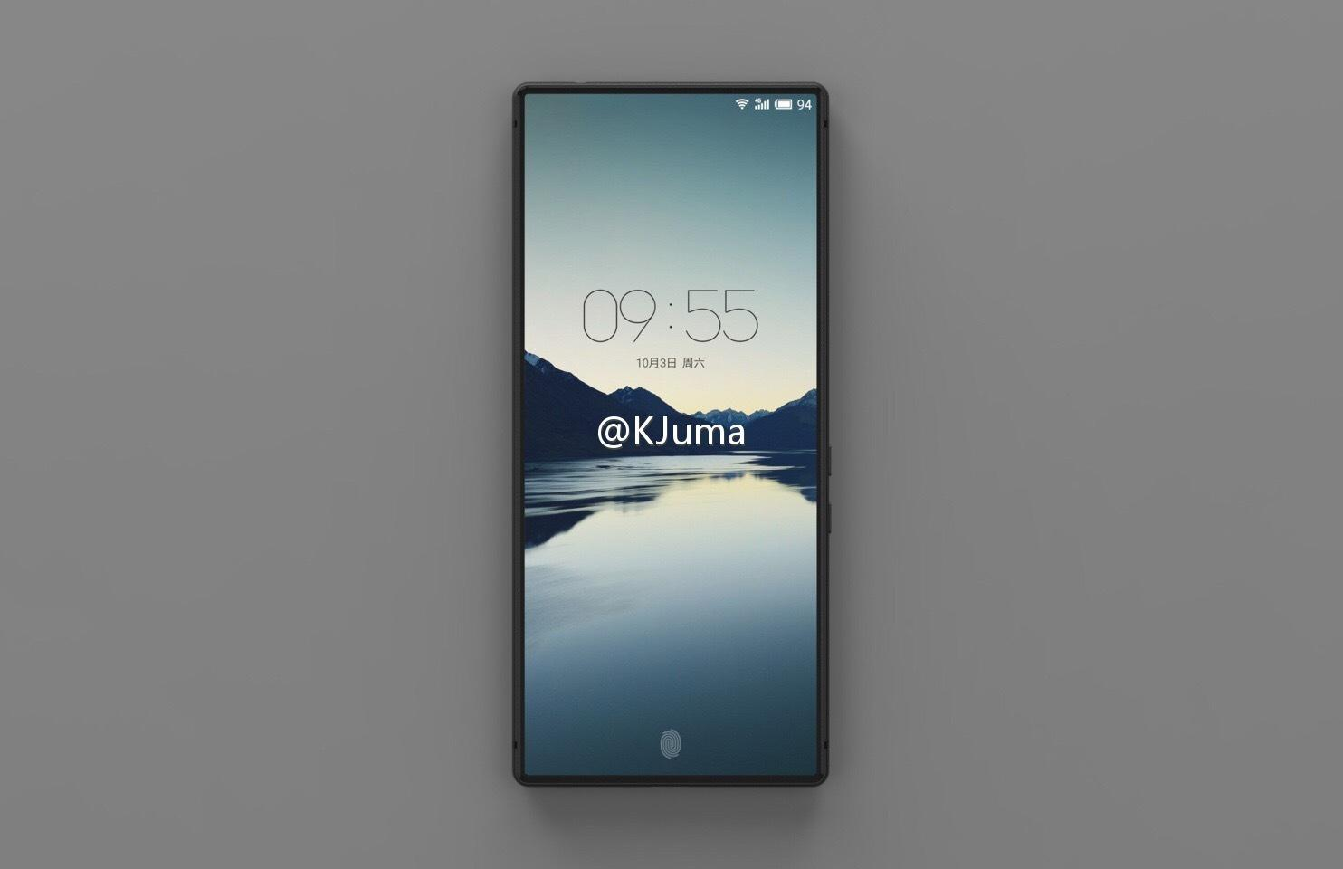 Meizu sin nye telefon har minimalt med rammer rundt telefonen.