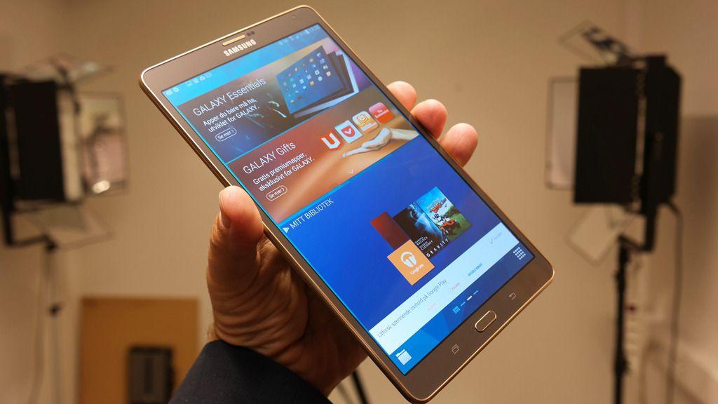 Samsung Galaxy Tab S er et svært vellykket nettbrett. .Foto: Espen Irwing Swang, Amobil.no