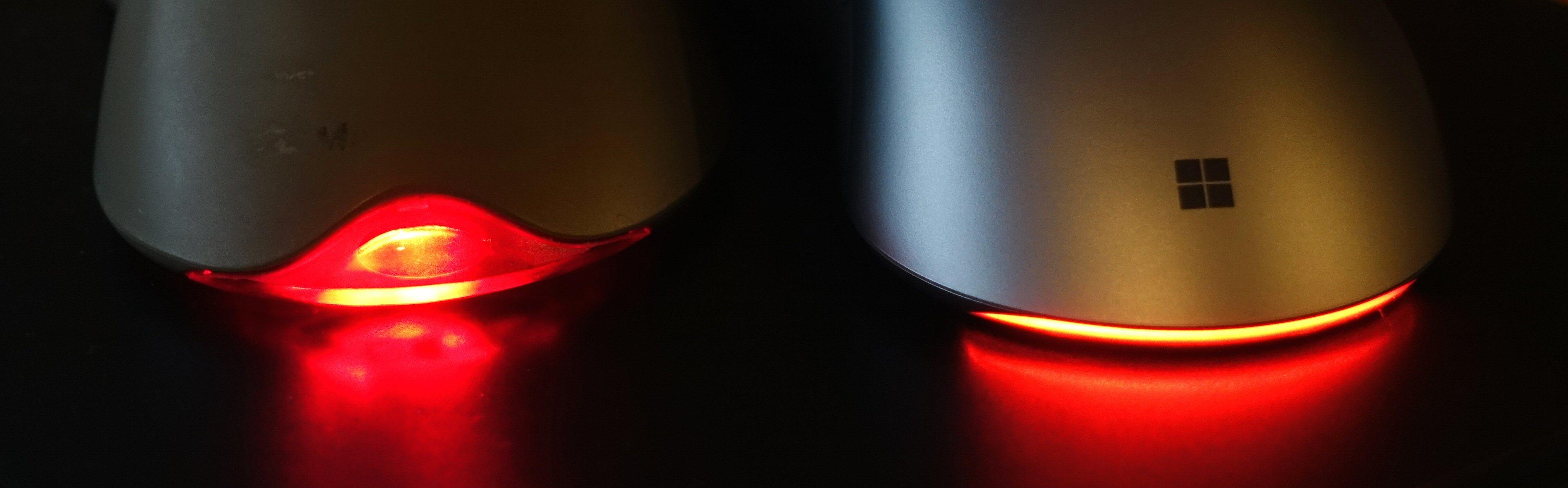 Pro IntelliMouse har et nytt og mer subtilt halelys. Forandre farge kan det også.