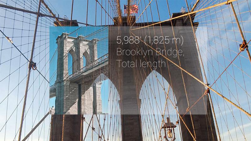 Lurer du på hvor høy og lang Brooklyn Bridge er? Spør Google Glass!