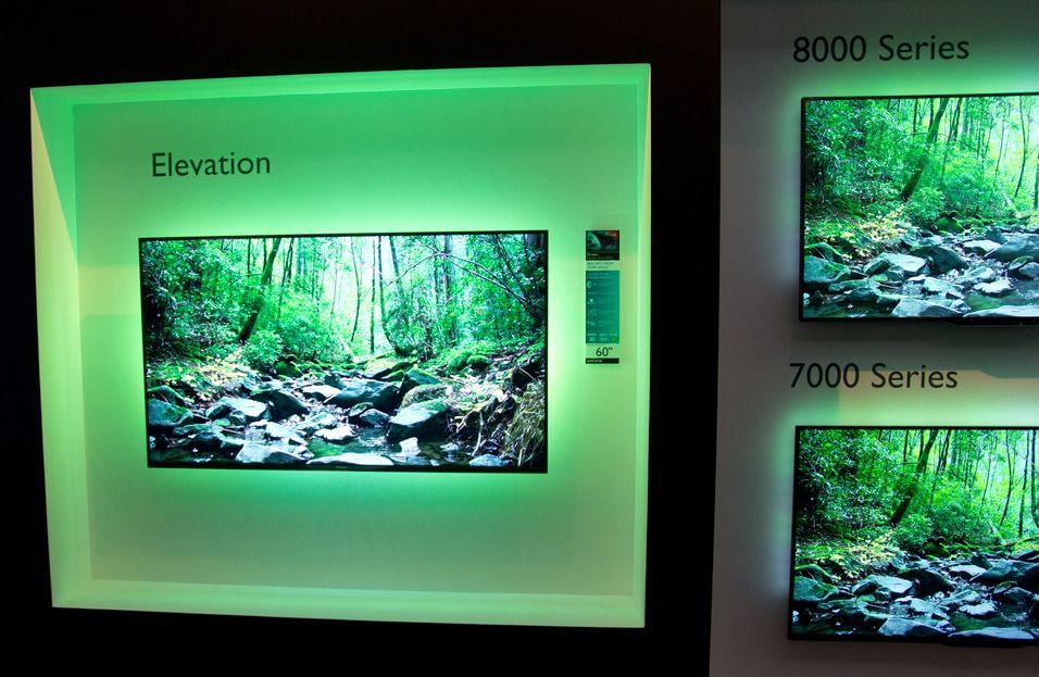 Merkelappene på moderne skjermer er mange. Triluminos og Ambilight er blant dem. Kun én av disse har noe med panelet å gjøre.Foto: Rolf B. Wegner, Tek.no