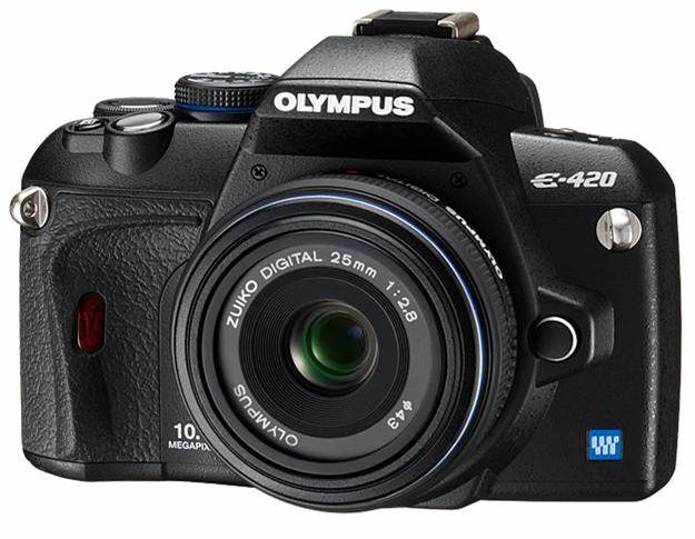 Olympus E-420 med 25mm f2.8 pancake-objektiv