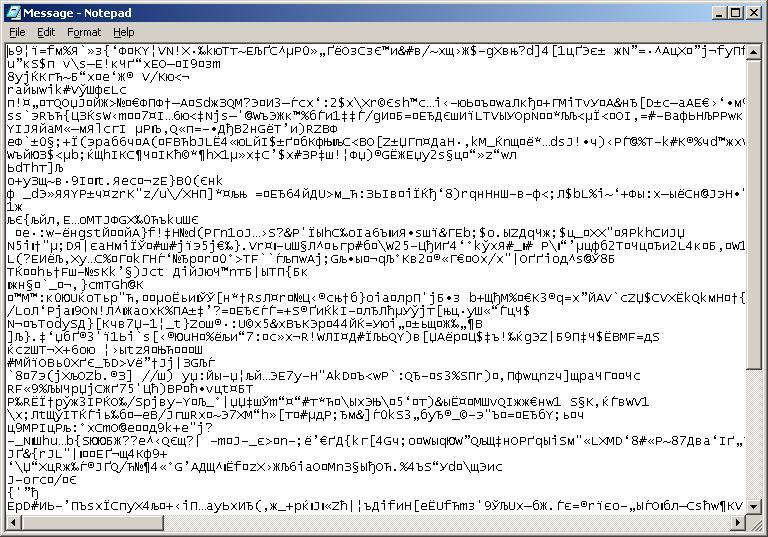 Ved installasjon åpnet Mydoom Notepad og viste dette.Foto: Securelist.com