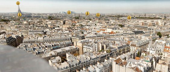 Utsnitt av 26 gigapiksel Paris-panorama (fra www.paris-26-gigapixels.com).