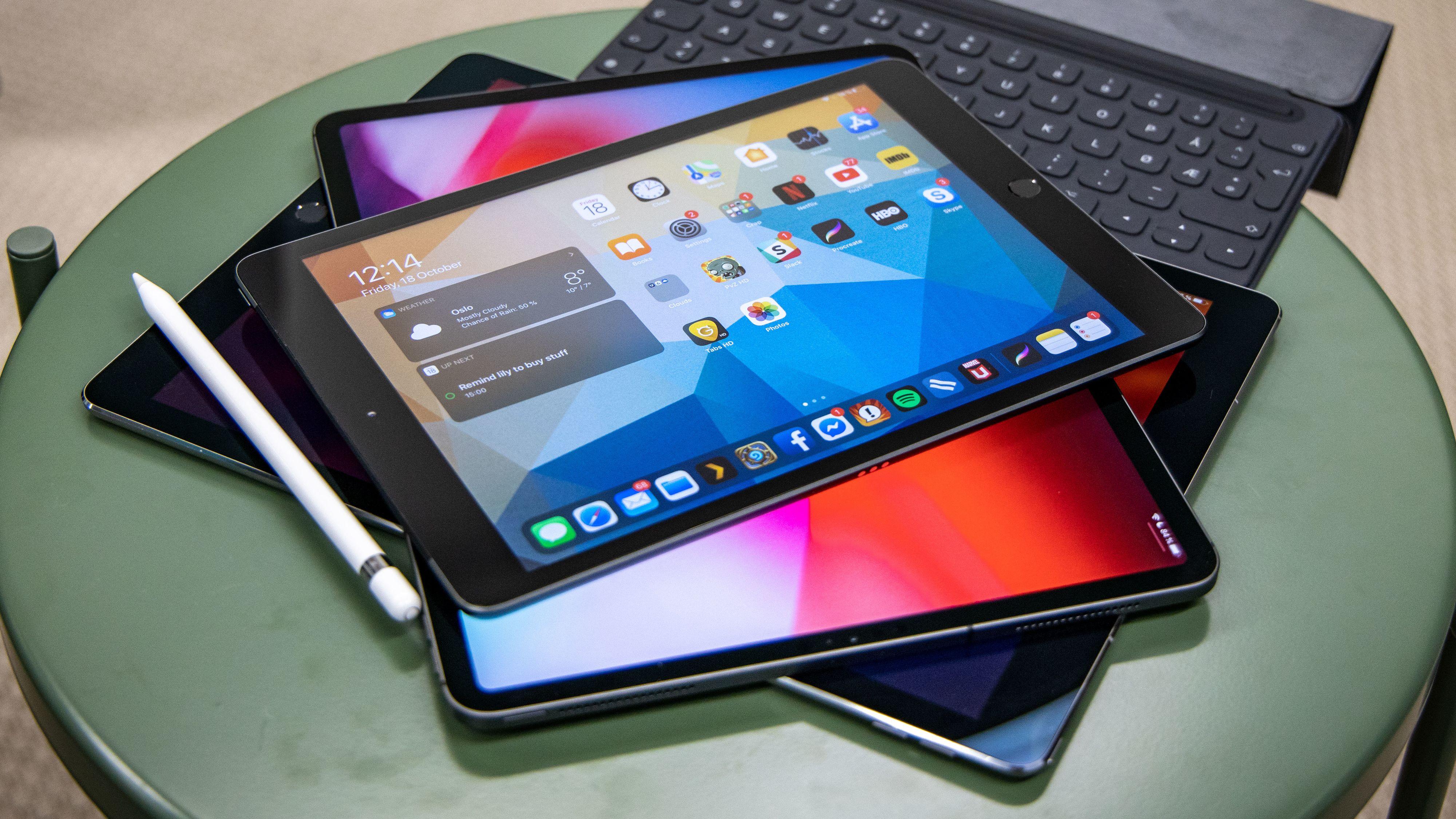 Dette bildet er fra fjorårets iPad-test. Vi kunne ha brukt det også i år.