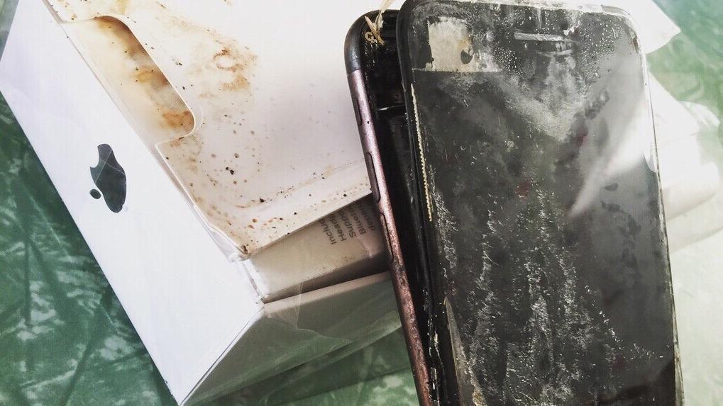 Slik så iPhone 7 Plus-en ut da den ble levert fra Apple