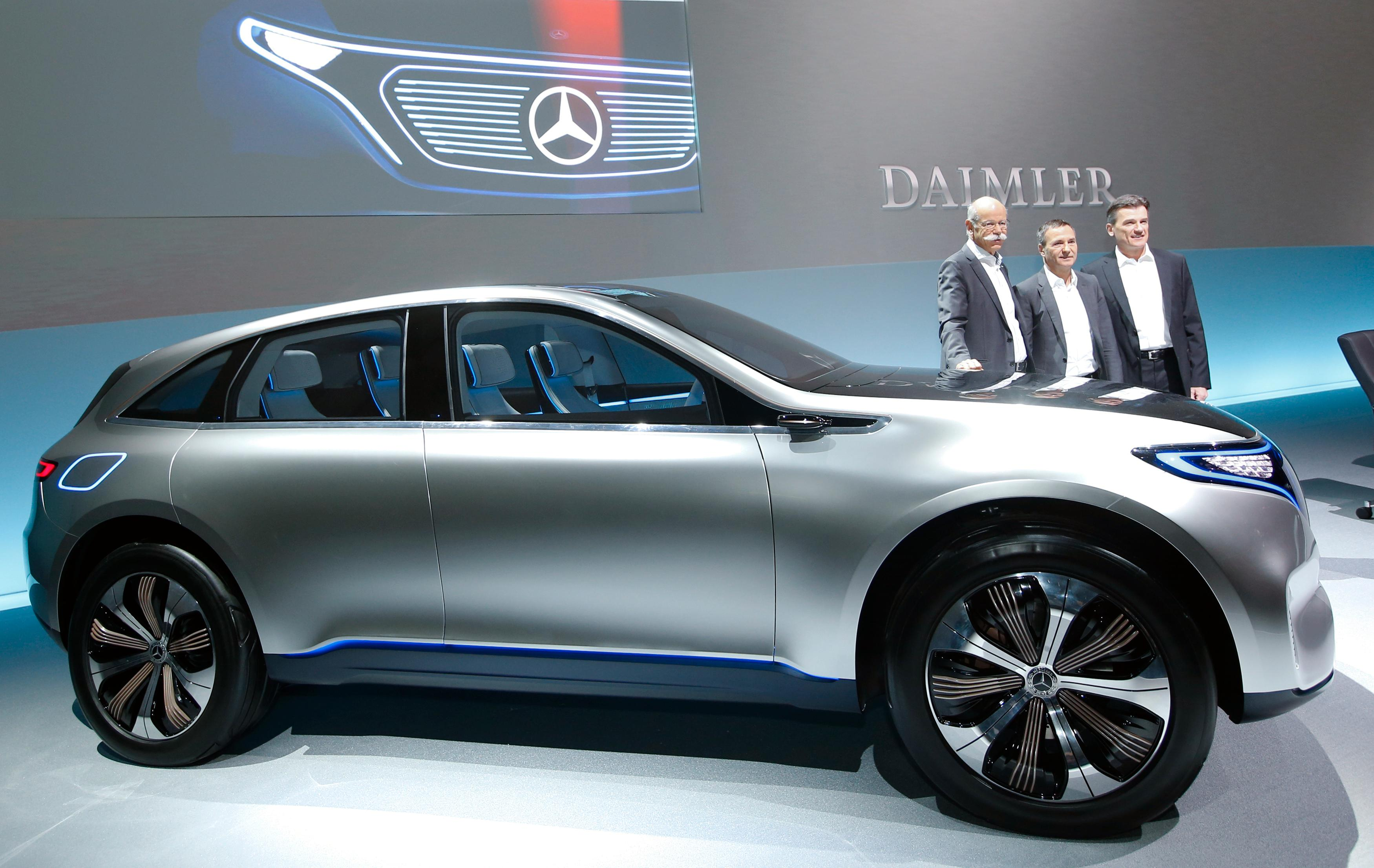 Mercedes EQ-merke skal bli til fire helelektriske modeller etter hvert. Konseptbilen skal likne en ny C-modell.