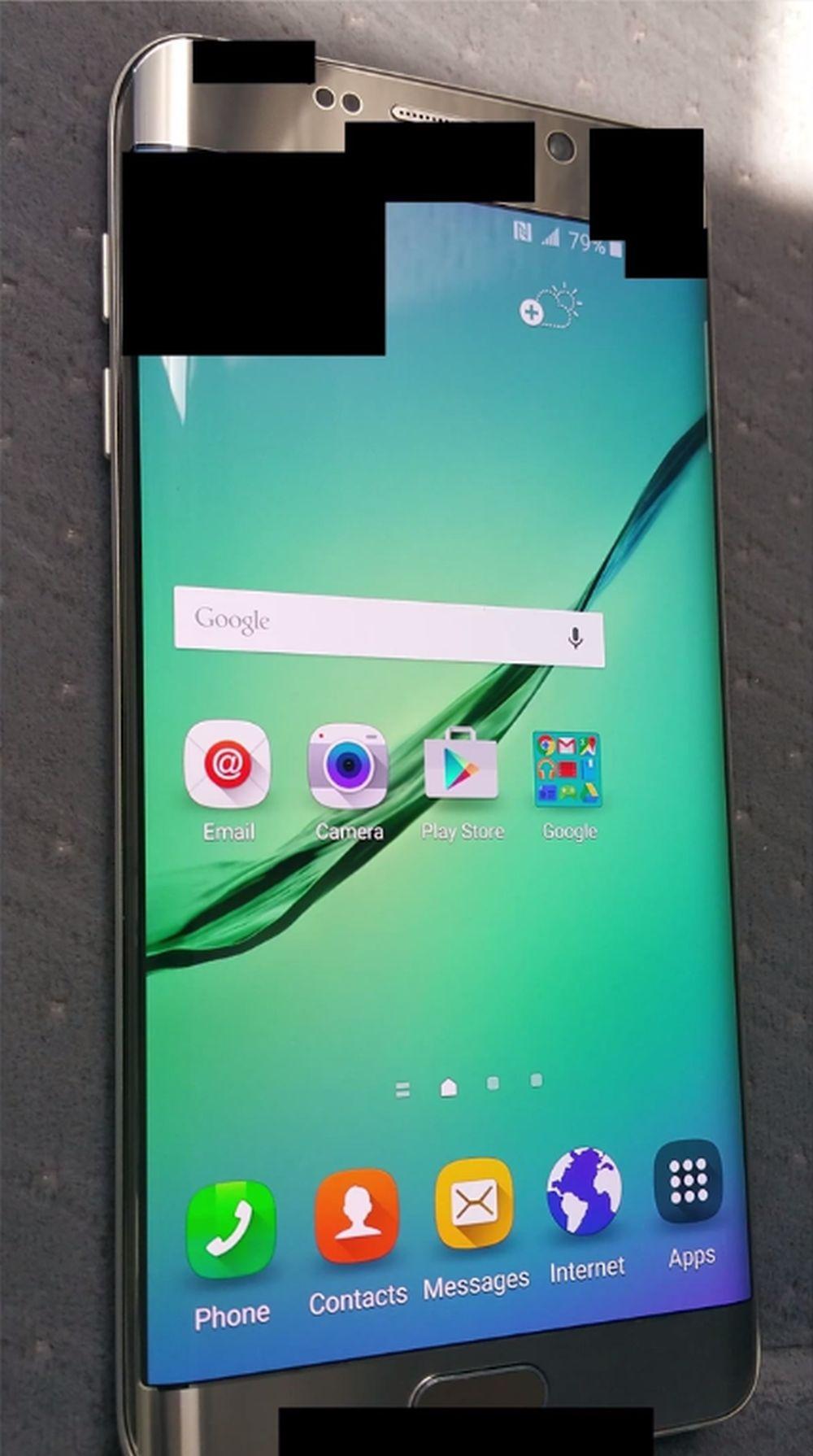 Den ryktede S6 Plus i fullfigur. Foto: YouTube