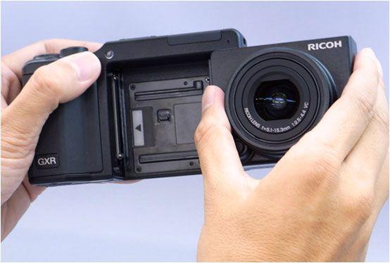 Modulært kamera. Bytt ut både optikk og bildebrikke.