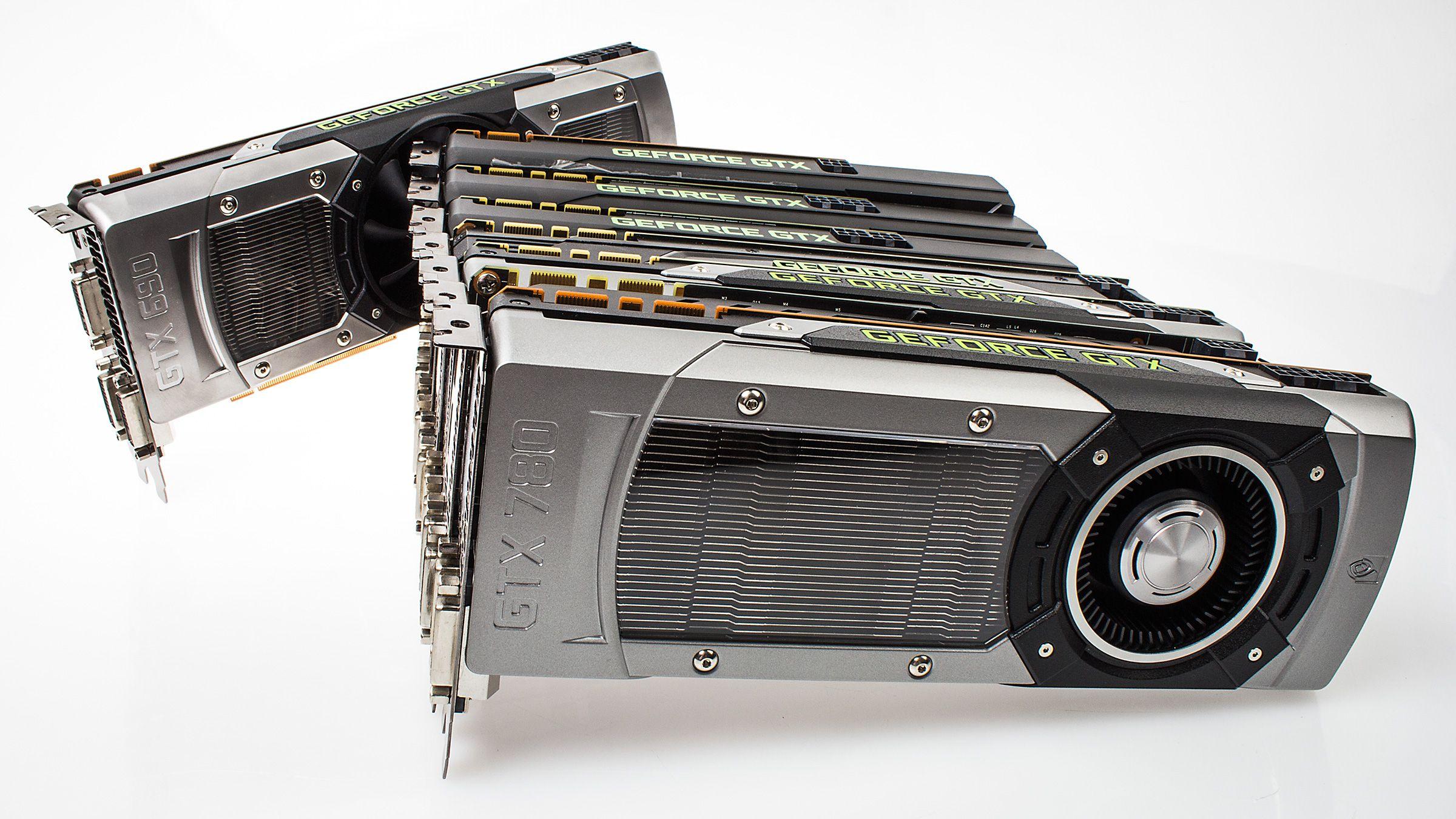 Det er ikke så rent få GeForce-kort som skal i ilden.Foto: Varg Aamo, Hardware.no