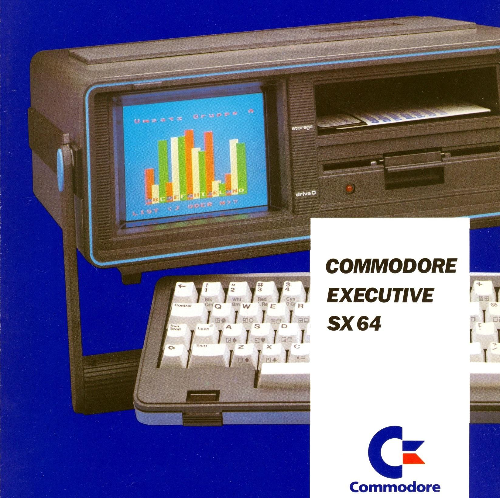 SX-64 var første bærbare datamaskin med fargeskjerm.
