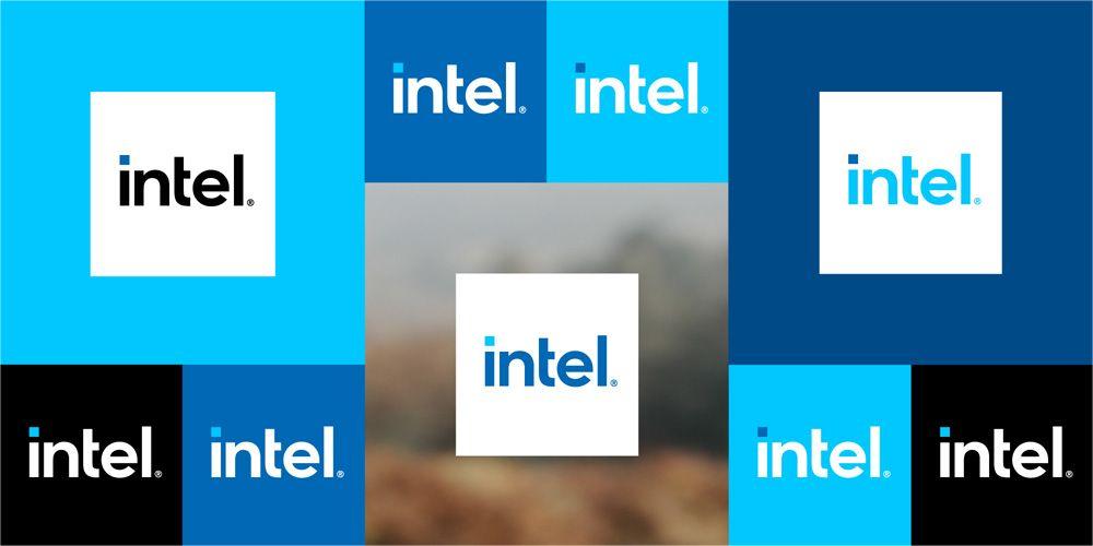 Intels nye logovarianter.