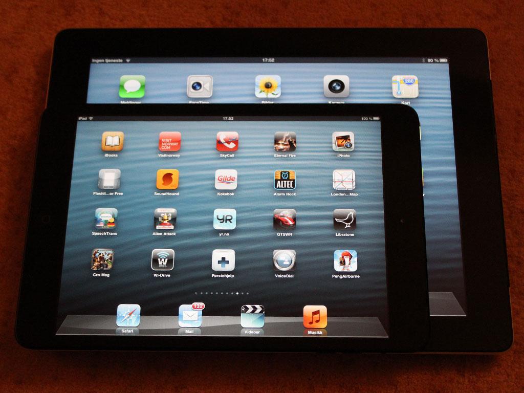 iPad mini på toppen av en iPad (3. generasjon).Foto: Espen Irwing Swang, Amobil.no