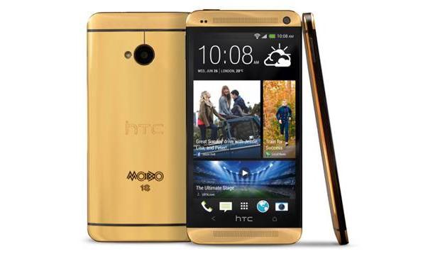 HTC har lansert sitt flaggskip, One, i 18 karat gull.Foto: HTC
