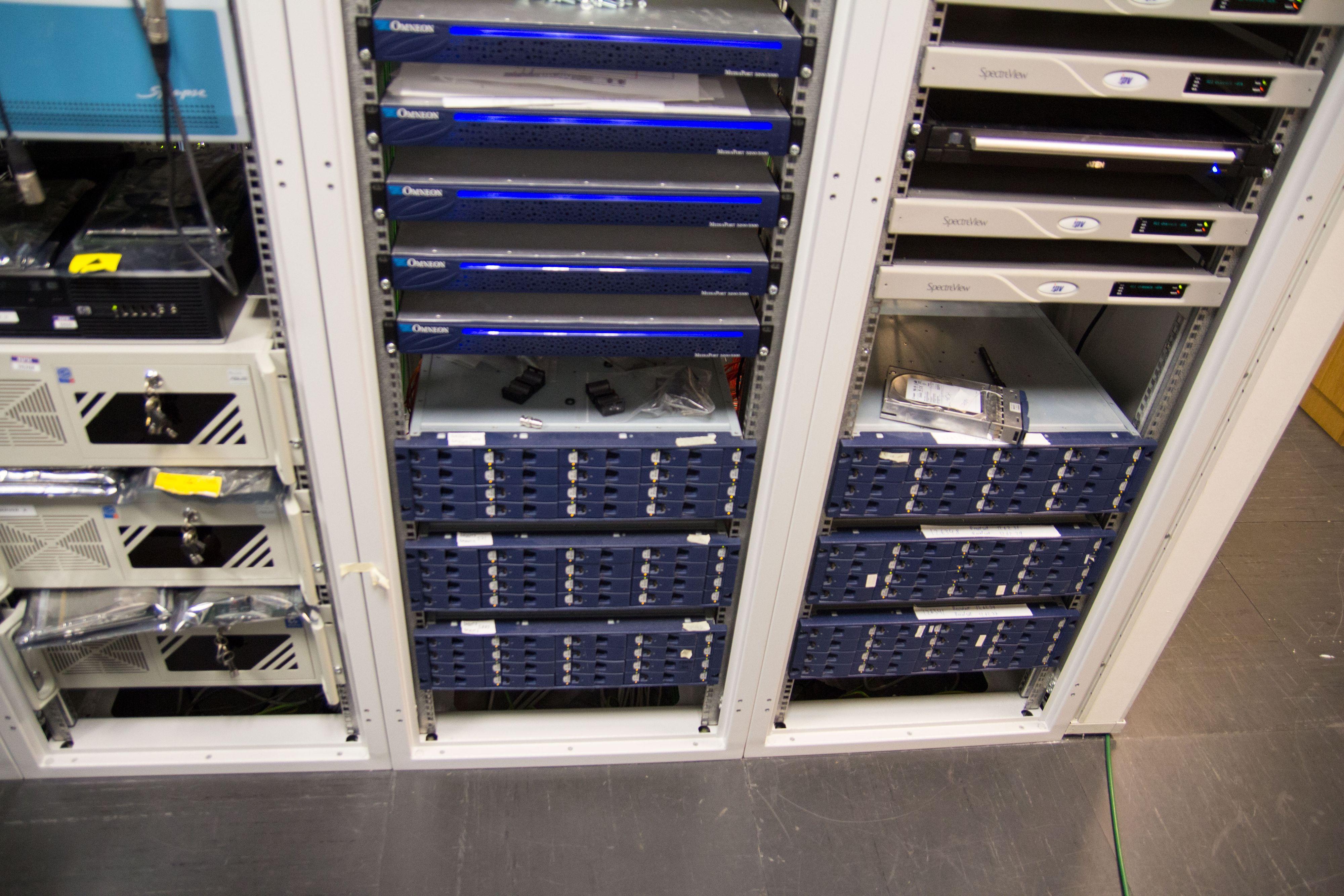 Her lagres innhold på vei til Programbanken.Foto: Ole Henrik Johansen / Hardware.no