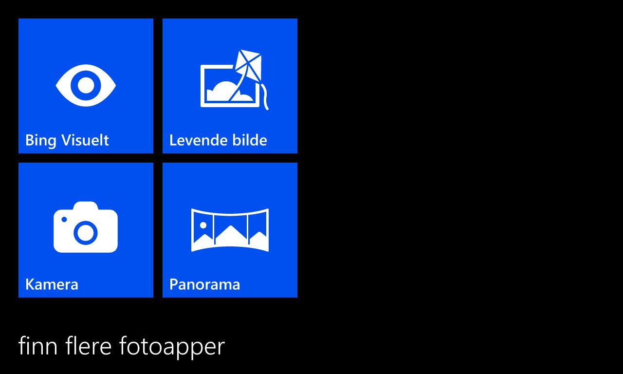 Du kan velge mellom flere ulike kameraapper.