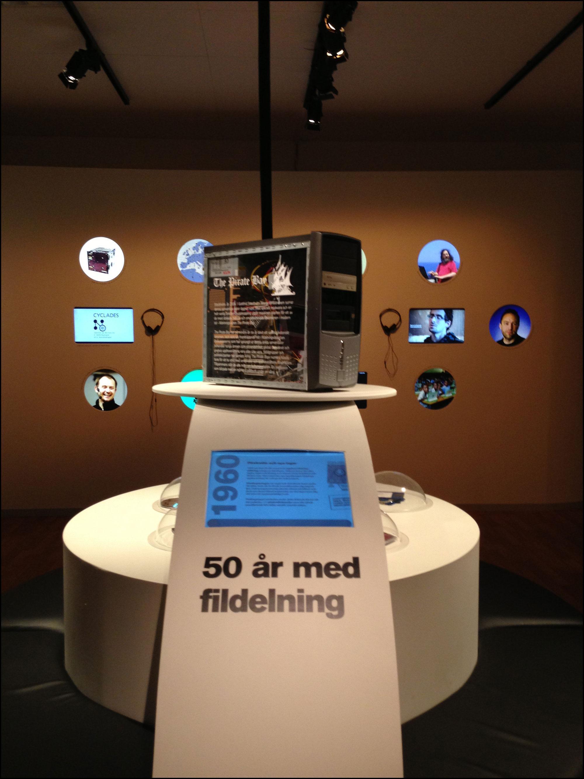 "Utstillingen ""50 år med fildeling"".Foto: Marcin de Kaminski"