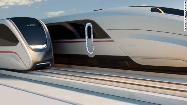 Det lille toget må gi full gass, mens ekspressen må sette ned farten.