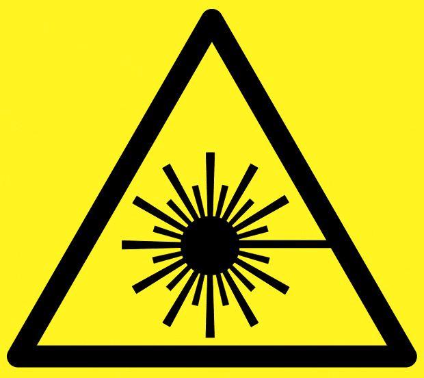 Produkter med sterke lasere skal være merket med dette symbolet.