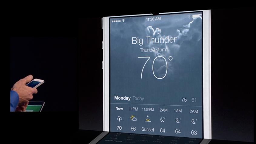 Vær-appen får en skikkelig gjennomgang.Foto: Apple