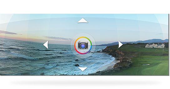 Photo Sphere-funksjonen lar deg panorere i alle retninger.