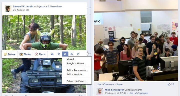 Du kan selv legge til nye hendelser i Timeline. Foto: Facebook