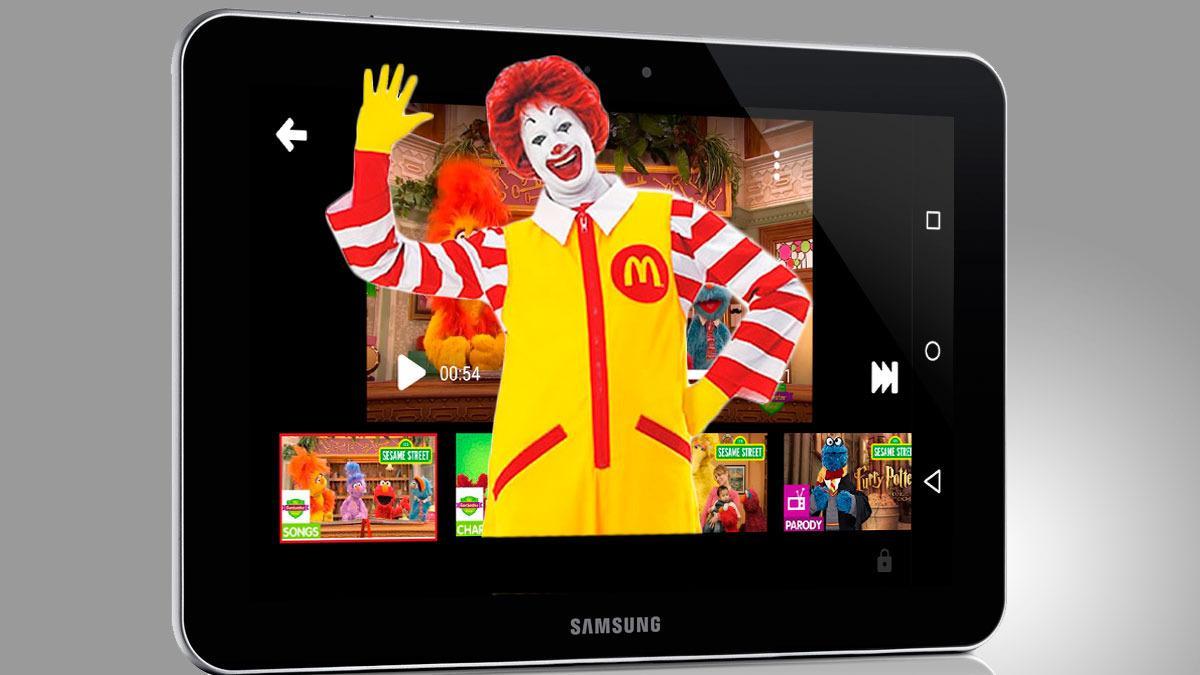 YouTubes nye barne-app serverer barna reklame