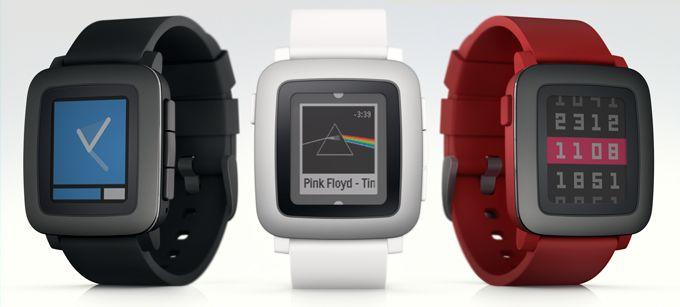 Pebble Time kommer i tre farger. Foto: Kickstarter